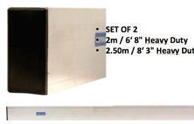 """2 X REFINA ALUMINIUM CONCRETE SCREED & STRAIGHT EDGE SCREED RULE 6' 8"""" & 8' 3"""""""