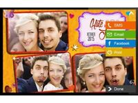 Photo Booth Social media kiosk for Weddings & Parties, stylish unique Business in a Box