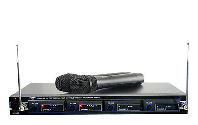 New Pyle PDWM4300 4 Mic VHF Wireless Rack Mount Microphone System