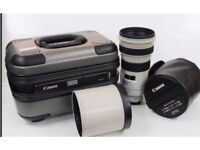CANON 300MM 2.8L IS LENS WITH HOOD & FLIGHT CASE