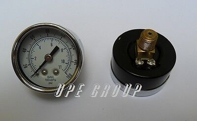 New Air Pressure Gauge Air Compressor Hydraulic 1.5face 0-160 Back Mnt 18npt
