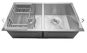 Stainless Steel 33 x 22 Double Undermount sink..............$100
