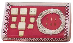Bodo Hennig Starterset für Puppenhaus-Elektrik (für Puppenhauslampen) 26385 NEU