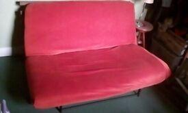 deep orange futon/double bed