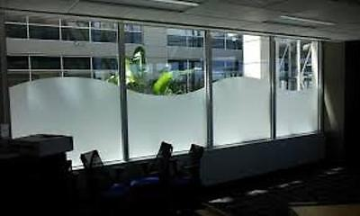 "24"" X 25 FT ROLL WHITE FROST FILM PRIVACY FOR OFFICE,BATH,GLASS DOORS,STOREFRONT"