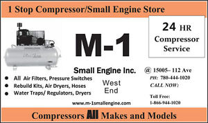 Compressor Service Snowblower Small Engine Repair @ 780-710-3353