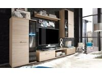 MODERN WALL UNIT SALSA *#,ENTERTAINMENT UNIT,HIGH QUALITY, TV UNIT,2X CABINET WARDROBE,HANGING SHELF