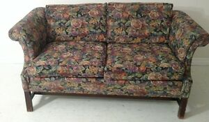 Wood-Legged Loveseat