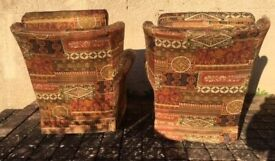 'Gimson Slater' Pair of Comfortable Vintage Small Armchairs.