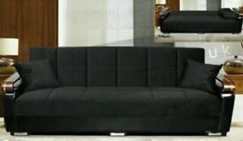 BRAND NEW ** TURKISH SOFA BED ** LARGE __ SOFA BED - CONVERT INTO BED WITH STORAGE