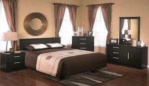 LORD SELKIRK FURNITURE- 5 PC EBONY BEDROOM SUITE - BLACK - $599