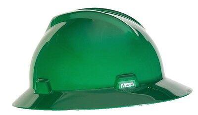 Msa Full Brim V-gard Hard Hat With Ratchet Suspension 4pt