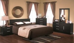 LORD SELKIRK FURNITURE- 5 PC EBONY BEDROOM SUITE - BLACK - $399