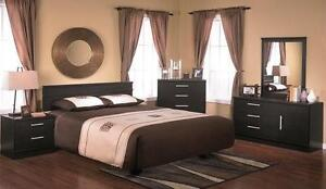 LORD SELKIRK FURNITURE- 5 PC EBONY BEDROOM SUITE - BLACK - $399