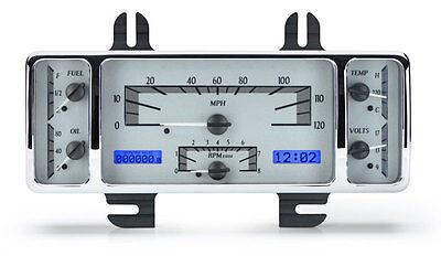 Dakota Digital 40 Ford Car 40-47 Pickup Analog Gauge Kit Silver Blue VHX-40F-S-B