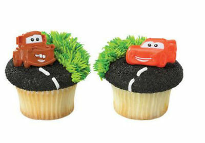 Cars Cupcake (Cars Movie Lightning McQueen Mater cupcake rings (24) party favor 2)