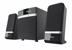 2.1 Compact Speaker Subwoofer Set Stereo Sound Bass PC Laptop Desktop Computer &