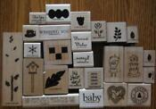 Wood Rubber Stamp Lot