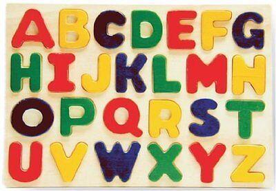 Puzzled Alphabet Raised Wooden Puzzle for Children New