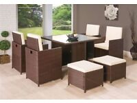 **FAST AND FREE UK DELIVERY** 9-Piece Rattan Garden Conservatory Furniture -BRAND NEW!