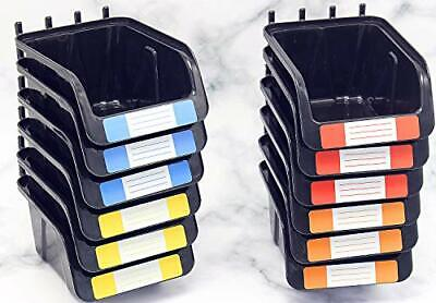Pegboard Bins Kit 12 Pack Black Pegboard Parts Storage Tool Peg Borad Workbench