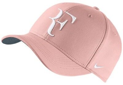 9795a56fa5f03 NEW Nike Court AeroBill Roger Federer RF Adjustable Tennis Hat. Sunset White