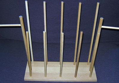Holzständer Ständer für das Handpuppen - Set für 12 Handpuppen Handpuppenständer