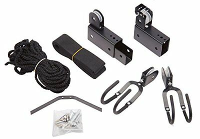 Bike-lift Ceiling Mount Garage Pulley System w/ Rack 100lb Working Capacity
