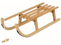 Folding wooden Sled (sledge) Toboggan by Alpengaudi which is still boxed