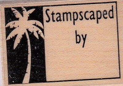 """stampscaped by.. unbranded Wood Mounted Rubber Stamp  1 1/2 x 1""""  Free Shipping"""
