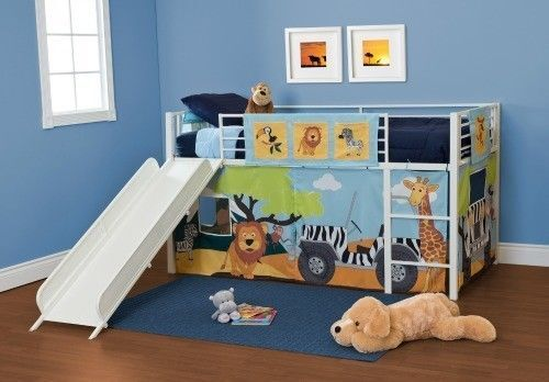 Jungle Loft Bed with Slide 500 x 348