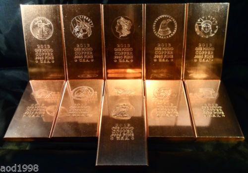 Copper Ingot Pound Bullion Ebay
