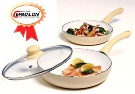NON STICK CERAMIC FRYING PAN SET OF 2............Brand New