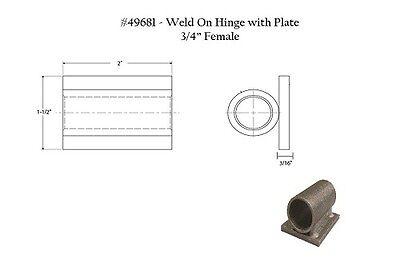 "MARLBORO 4PPP6 5//8/""W x 3-5//32/""H Mill Stainless Steel Weld-On Hinge"