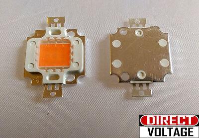 4 Pcs 10 Watt Full Spectrum Led Chip 380nm840nm Plant Grow Lights