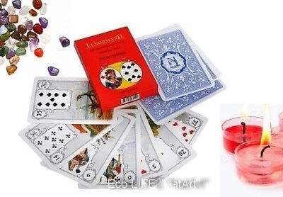 Madame Lenormand 36 Tarot Cards Карты ТАРО Ленорман with Russian instructions!