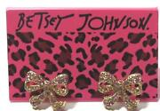 Betsey Johnson Pink Bow Earrings
