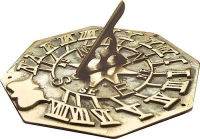 Brass Sundial -   Large Octagonal Sundial - Garden Sundial