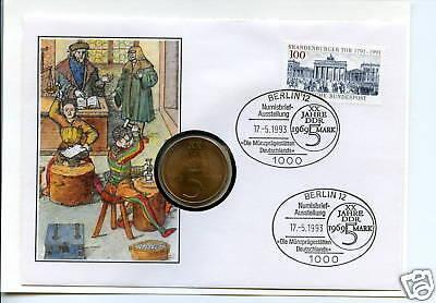 Numisbrief DDR: Münzprägestätten Deutschlands 1993
