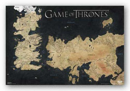 Game of thrones map television memorabilia ebay gumiabroncs Image collections