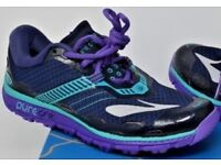 NEW: Size 6 Brooks PureGrit 5 women's professional hiking trainers running shoes / Cross country