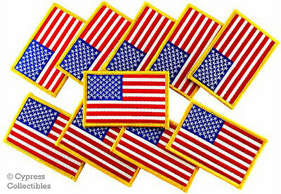 LOT of 20 AMERICAN FLAG EMBROIDERED PATCH United States IRON-ON USA MILITARY new