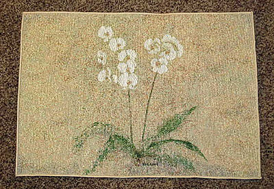 Orchid Paperwhite Tapestry Placemat Artist, Cheri Blum