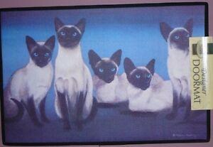 Abyssinian Door-Mat, Tabby cat doormats, Black Cats, Siamese mat