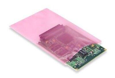 4x6 Anti-static Lay Flat Poly Bags Pink Hard Drives Ssd Electronics 2 Mil Pas