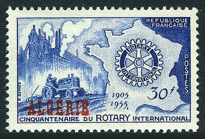 Algeria 264, MNH. Rotary International, 50th anniv. Map, Castles, 1955