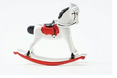Dollhouse Miniatures 1:12 Scale Rocking Horse, White #IM65402W