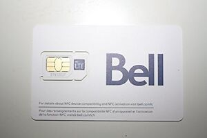 BELL 4G LTE UNLIMITED SIM CARD