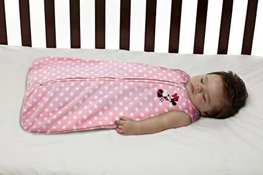 Disney Minnie Mouse Baby Wearable Blanket Pijama ,pink , Med