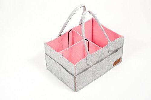 PREMIUM Portable Baby Diaper Caddy Organizer Tote Travel Bag Nursery Storage Bin